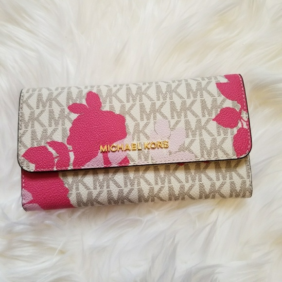 85323367d215 Michael Kors Bags | Jet Set Floral Granita Trifold Wallet | Poshmark